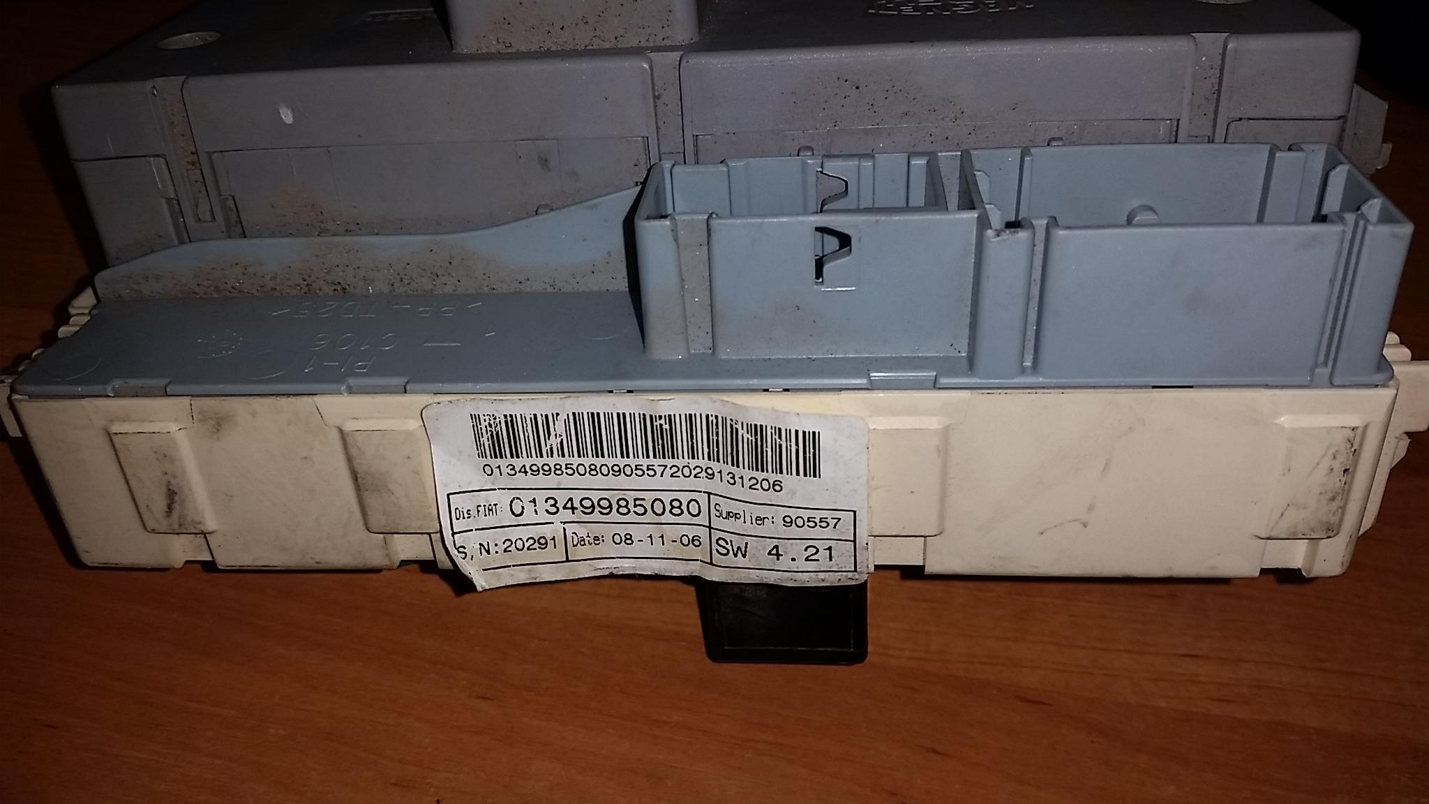 peugeot boxer, jumper, ducato, 06-13, 2,2 diesel, fuse box, 01349985080  (article: 01349985080)