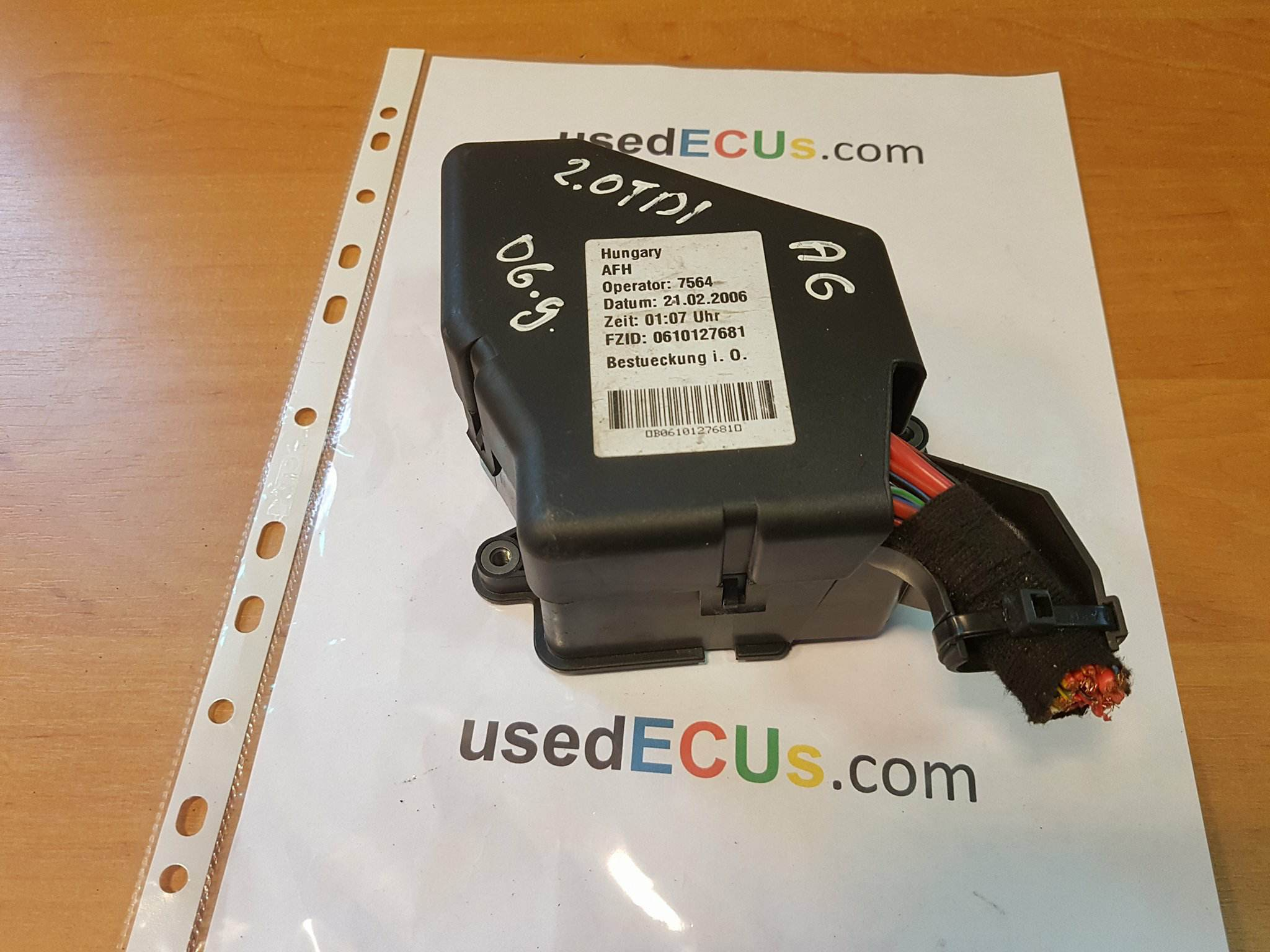 Audi A6 C6 2006 20tdi Fuse Box 8d2941824 90 Article