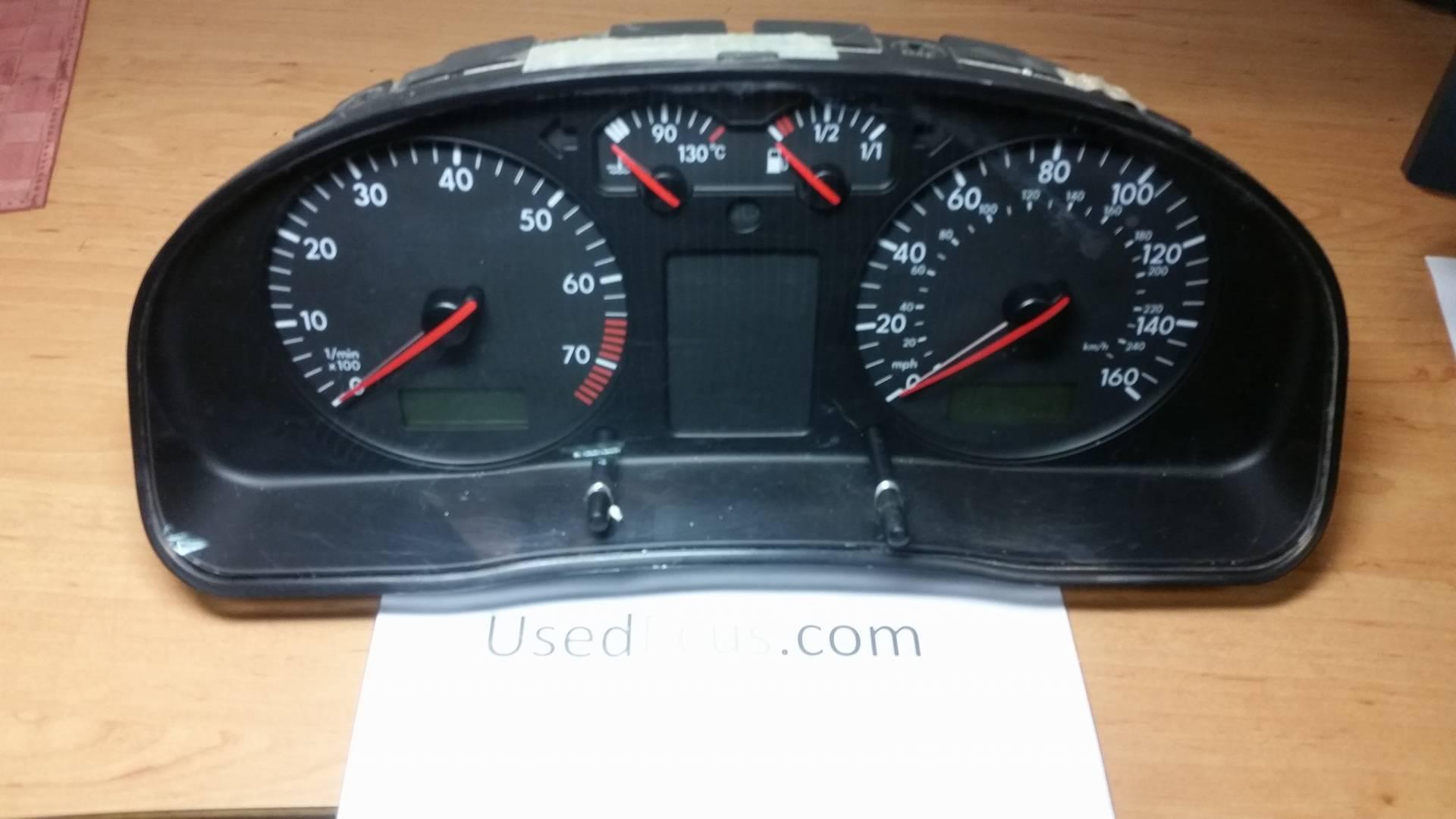 VW PASSAT B5, RHD, PETROL SPEEDO SPEEDOMETER INSTRUMENT CLUSTER
