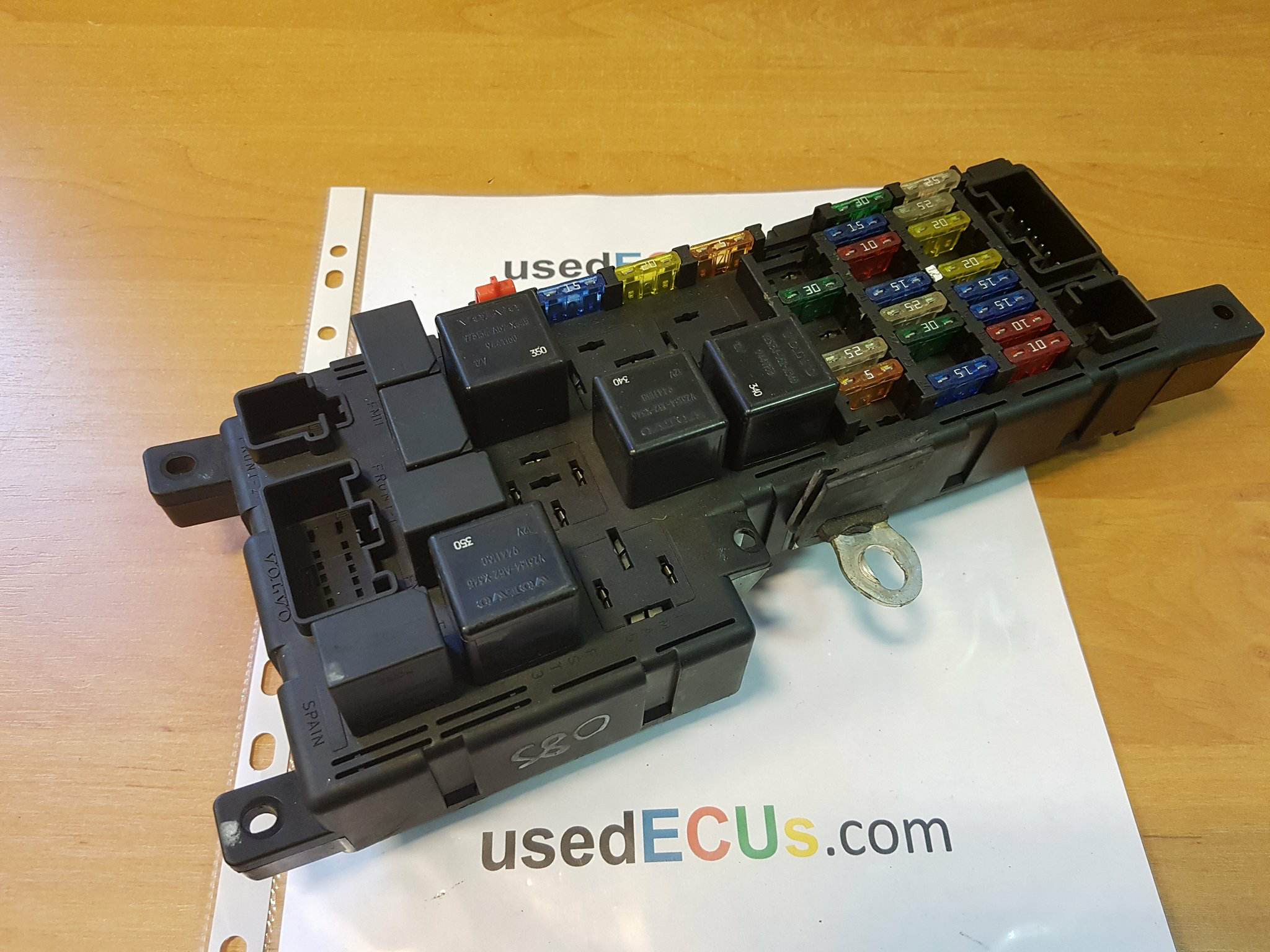Volvo External Fuse Box Wiring Schematics Diagram 2011 S60 V70 2001 Mk2 Under Bonnet Engine Bay Saturn