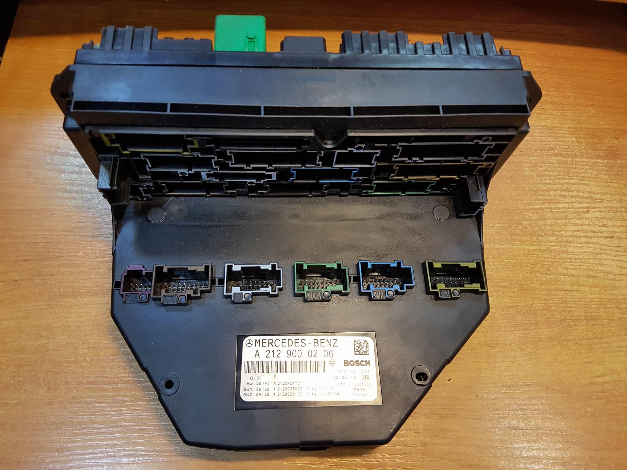 Mercedes E Class W212 Front Sam Fuse Relay Control Box Unit Sw2 A2129000206 Article