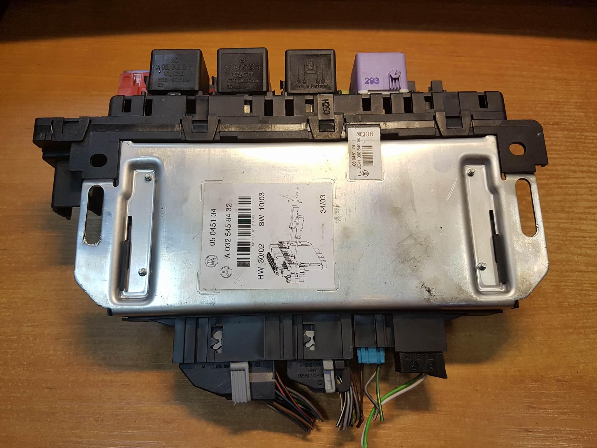 Fuse Box Unit E0b884e0b8b7e0b8ad Block And Schematic Mercedes S Class W220 Sam Engine Control A0325458432 Rh Usedecus Com