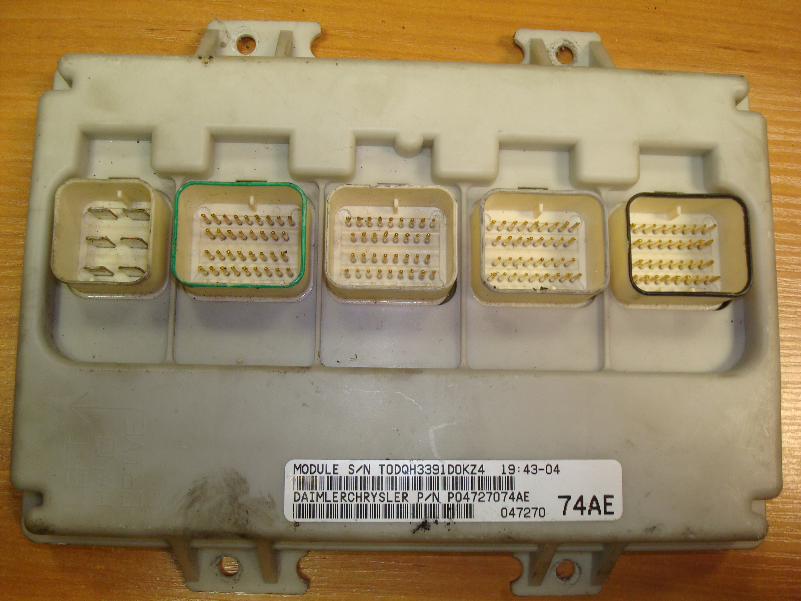 2001 chrysler voyager fuse box