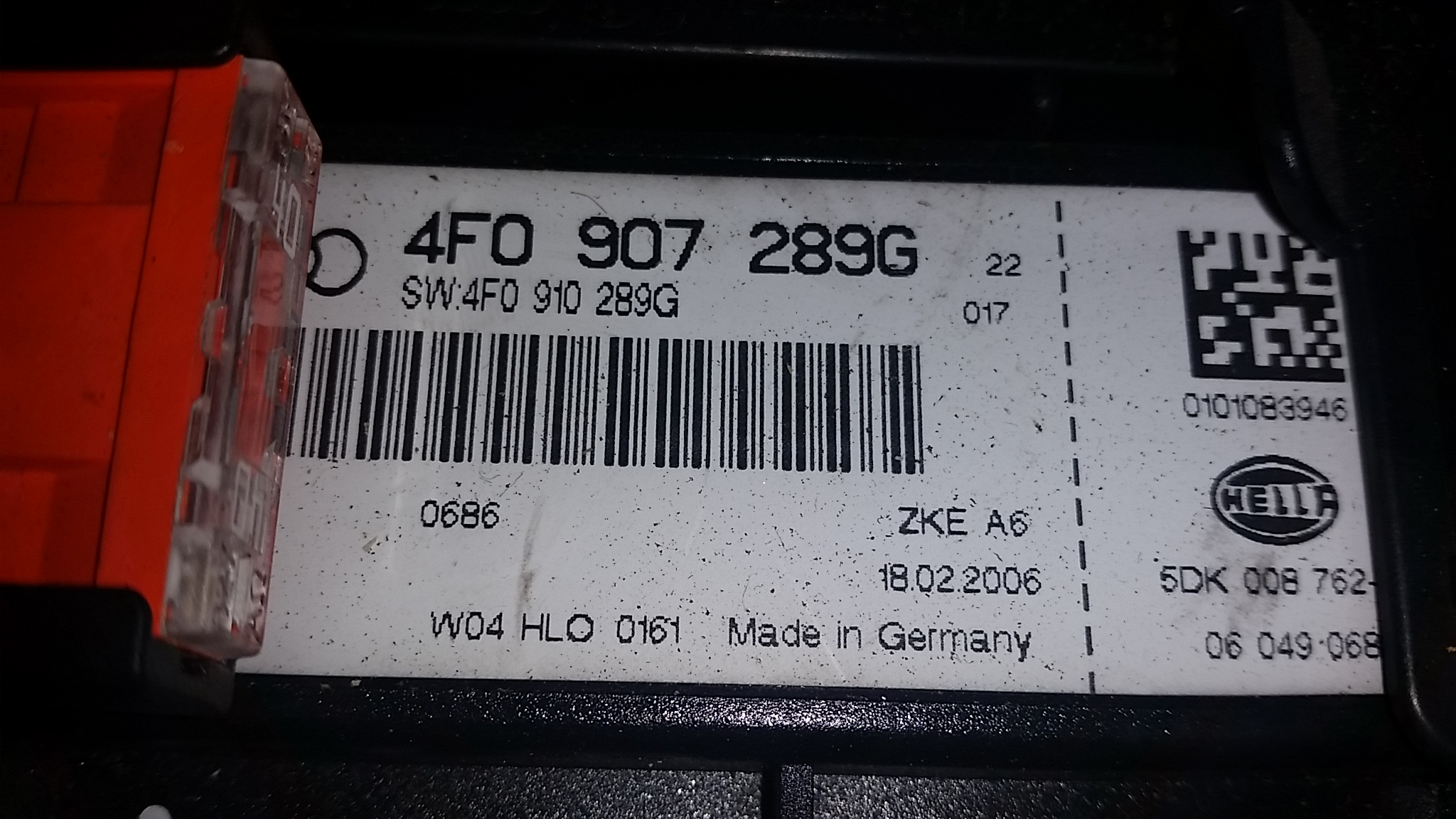 Audi A6 C6 2006 20 Tdi Fuse Box And Comfort Module Ecu Hella 4f Location Price